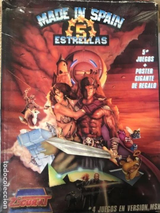ANTIGUO JUEGO MADE IN SPAIN 5 ESTRELLAS MSX (Juguetes - Videojuegos y Consolas - Msx)
