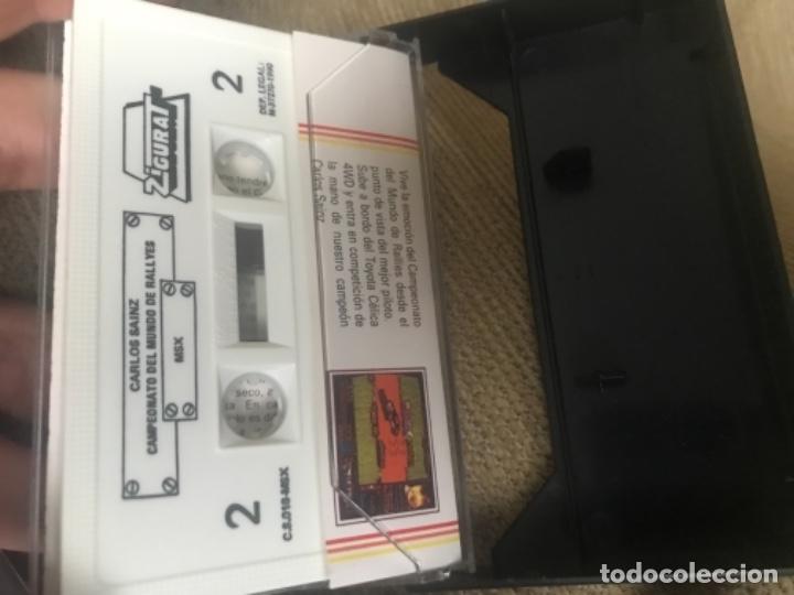Videojuegos y Consolas: ANTIGUO JUEGO MSX CARLOS SAINZ CAMPEONATO MUNDO RALLIES - Foto 2 - 144962662