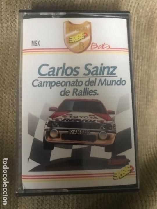 ANTIGUO JUEGO MSX CARLOS SAINZ CAMPEONATO MUNDO RALLIES (Juguetes - Videojuegos y Consolas - Msx)