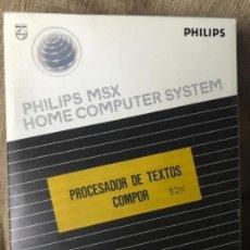 Videojuegos y Consolas: ANTIGUO PROGRAMA MSX PHILIPS PROCESADOR DE TEXTOS . Lote 145249954