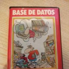 Videojuegos y Consolas: BASE DE DATOS . MSX . TOSHIBA . CASSETTE CINTA CAJA TIPO ESTUCHE. Lote 147395933