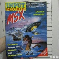Videojuegos y Consolas: INPUT MICROS MSX 23-SALAMANDER..SUPER RAMBO..ALIENS... Lote 156416906