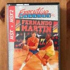 Videojuegos y Consolas: FERNANDO MARTÍN BASKET MASTER EXECUTIVE MSX. Lote 158864954