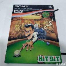 Videojuegos y Consolas: ANTIGUO CARTUCHO JUEGO PARA MSX COMPUTER BILLARDS. Lote 165316658