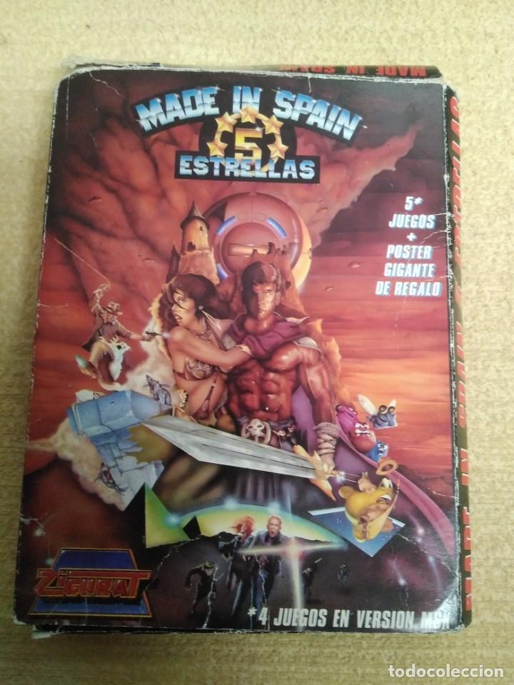 JUEGO MSX MADE IN SPAIN 5 ESTRELLAS (Juguetes - Videojuegos y Consolas - Msx)