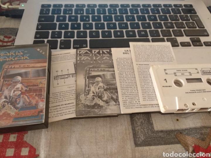 PARIS DAKAR CON MANUALES (Juguetes - Videojuegos y Consolas - Msx)