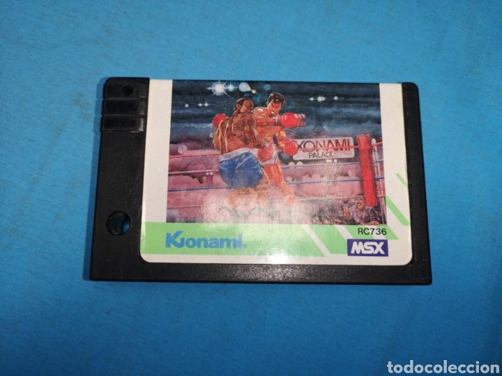 Videojuegos y Consolas: Juego cartucho Konami, konamis boxing 1985 rc736, msx - Foto 2 - 171132662