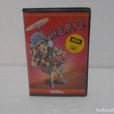 Videojuegos y Consolas: JUEGO MSX, H.E.R.O., ESTUCHE RIGIDO, ACTIVISION, HERO. Lote 171588210