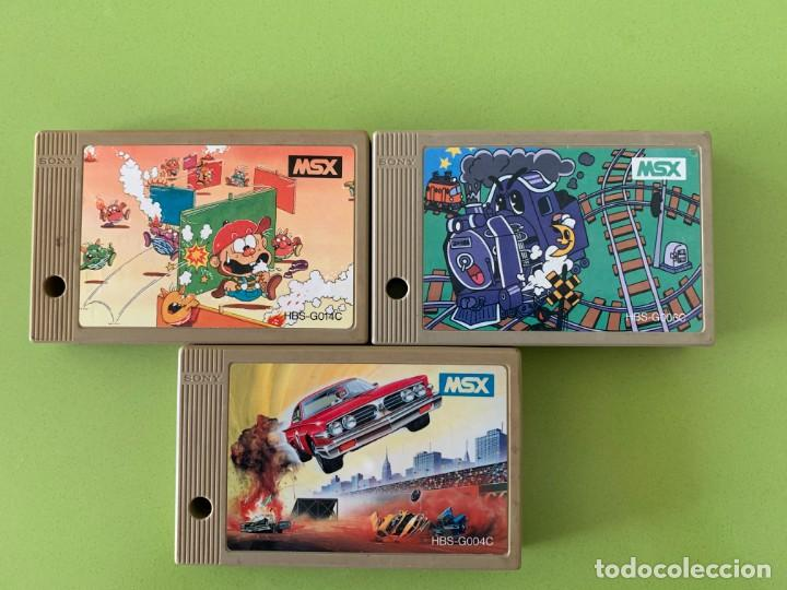 LOTE 3 CARTUCHOS MSX SONY HIT BIT (Juguetes - Videojuegos y Consolas - Msx)