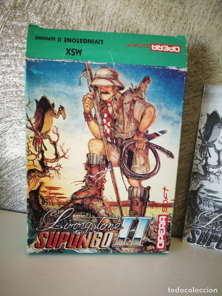 Videojuegos y Consolas: LIVINGSTONE SUPONGO II MSX - Foto 3 - 172391632