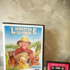 Videojuegos y Consolas: LIVINGSTONE SUPONGO MSX EN ESTUCHE GRANDE. Lote 172393475