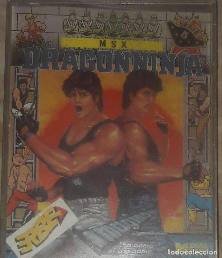 DRAGON NINJA MSX IMAGINE ERBE (Juguetes - Videojuegos y Consolas - Msx)
