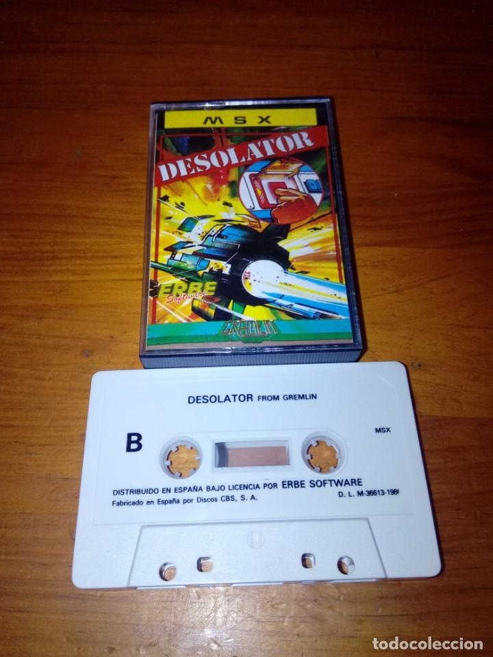 MSX. DESOLATOR. (Juguetes - Videojuegos y Consolas - Msx)