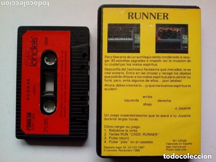 Videojuegos y Consolas: MSX - RUNNER - Instrucciones en español - Videojuego en cassette - - Foto 2 - 175132765