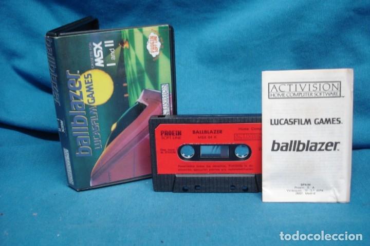 BALLBLAZER - LUCASFILM GAMES - CASSETTE PARA MSX I Y II - ACTIVISION 1986- RARO DIFICIL (Juguetes - Videojuegos y Consolas - Msx)