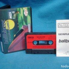 Videojuegos y Consolas: BALLBLAZER - LUCASFILM GAMES - CASSETTE PARA MSX I Y II - ACTIVISION 1986- RARO DIFICIL. Lote 175150473