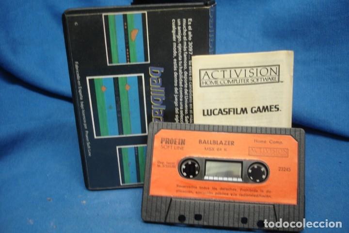 Videojuegos y Consolas: BALLBLAZER - LUCASFILM GAMES - CASSETTE PARA MSX I y II - ACTIVISION 1986- RARO DIFICIL - Foto 3 - 175150473