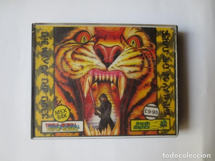 JUEGO EN CINTA MSX - THE WAY OF THE TIGER, DOBLE, COMPLETO, GREMLIN GRAPHICS (Juguetes - Videojuegos y Consolas - Msx)