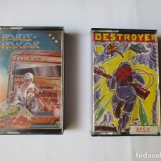 Jeux Vidéo et Consoles: JUEGOS EN CINTA MSX - PARIS DAKAR Y DESTROYER.. Lote 176472692