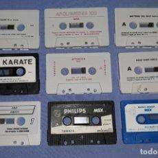 Videojuegos y Consolas: INTERESANTE LOTE DE JUEGOS MSX VER FOTOS Y DESCRIPCION. Lote 176962542