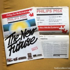 Videojuegos y Consolas: MSX 2 PERIÓDICO - FOLLETO PHILIPS NEW MEDIA SISTEMS. Lote 180122603