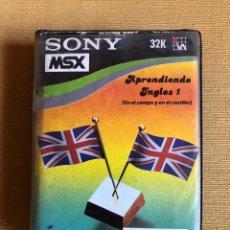 Videojuegos y Consolas: MSX JUEGO APRENDIENDO INGLES I. EN EL CAMPO Y EN EL CASTILLO. CASETTE. SONY.. Lote 180135756
