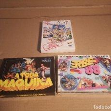 Videojuegos y Consolas: LOTE 3 JUEGOS MSX | MUNDIAL DE FUTBOL ITALIA 90 | ERBE 88 5 VIDEOJUEGOS TOTALES | A TODA MAQUINA |. Lote 180241940