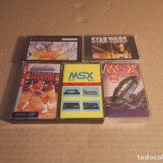Videojuegos y Consolas: LOTE 5 JUEGOS MSX | STAR WARS | BOMBARDEO EN NUEVA YORK | BASKET MASTER | PROGRAMAS. Lote 180243143