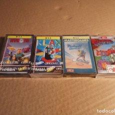 Videojuegos y Consolas: LOTE 4 JUEGOS MSX: XYBOTS (PRECINTADO), KLAX (PRECINTADO), PINBALL BLASTER (PRECINTADO) Y WARP WARP. Lote 180281490