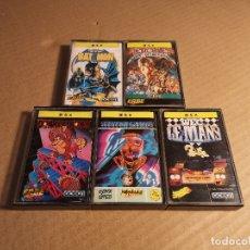 Videojuegos y Consolas: LOTE 5 JUEGOS MSX: HERCULES SLAYER OF THE DAMNED, WEC LE MANS, WINTER GAMES, BAT MAN Y DONKEY KONG. Lote 180282547