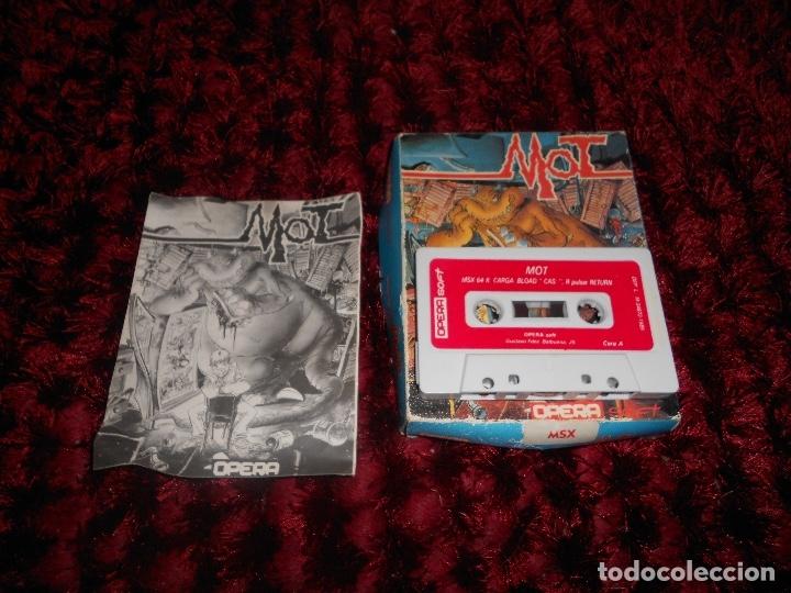 Videojuegos y Consolas: ANTIGUO JUEGO MSX MOT OPERA SOFT - Foto 3 - 181432501