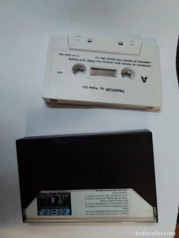 Videojuegos y Consolas: Juego cinta cassette MSX TRANTOR DE ERBE INSTRUCCIONES EN ESPAÑOL - Foto 2 - 182564356