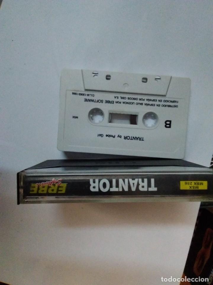 Videojuegos y Consolas: Juego cinta cassette MSX TRANTOR DE ERBE INSTRUCCIONES EN ESPAÑOL - Foto 3 - 182564356