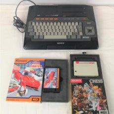 Videojuegos y Consolas: ORDENADOR MSX CON 2 JUEGOS. HIT BIT. SONY. MODELO HB-101P. JAPÓN. CIRCA 1980.. Lote 183896466