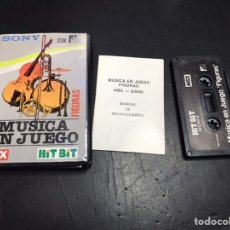 Videojuegos y Consolas: MUSICA EN JUEGOS MSX CASSET HIT BIT SONY. Lote 184139221