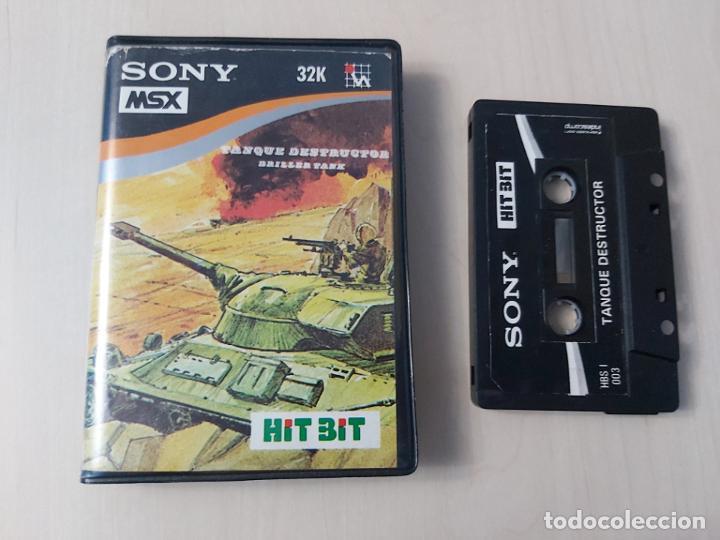 JUEGO ORDENADOR - TANQUE DESTRUCTOR - MSX - CASETE - HIT BIT SONY (Juguetes - Videojuegos y Consolas - Msx)