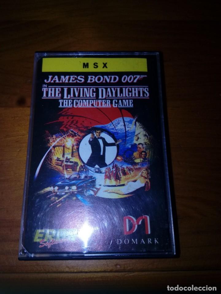 SOLAMENTE LA CARATULA. MSX. JAMES BOND 007. THE LIVING DAYLIGHTS. (Juguetes - Videojuegos y Consolas - Msx)