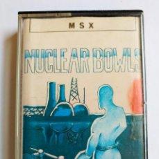 Videojuegos y Consolas: JUEGO NUCLEAR BOWLS MSX ORDENADOR CINTA 1987. Lote 191535201