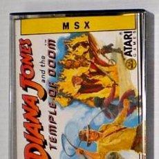 Videojuegos y Consolas: INDIANA JONES AND THE TEMPLE OF DOOM [Y EL TEMPLO MALDITO] ATARI GAMES [US GOLD] ERBE SOFTWARE [MSX]. Lote 43342549
