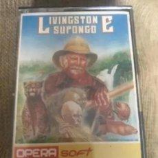Videojuegos y Consolas: ANTIGUO JUEGO MSX LIVINGSTONE SUPONGO OPERSOFT. Lote 194496150