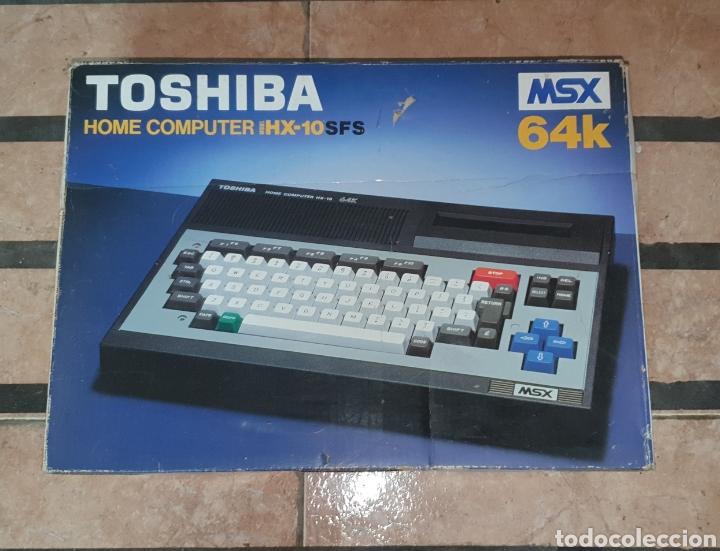 Videojuegos y Consolas: ANTIGUO MSX 64 TOSHIBA HOME COMPUTER HX-10 SFS EN SU CAJA RETROVINTAGEJUGUETES - Foto 2 - 195685200