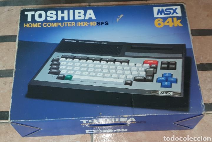 Videojuegos y Consolas: ANTIGUO MSX 64 TOSHIBA HOME COMPUTER HX-10 SFS EN SU CAJA RETROVINTAGEJUGUETES - Foto 3 - 195685200