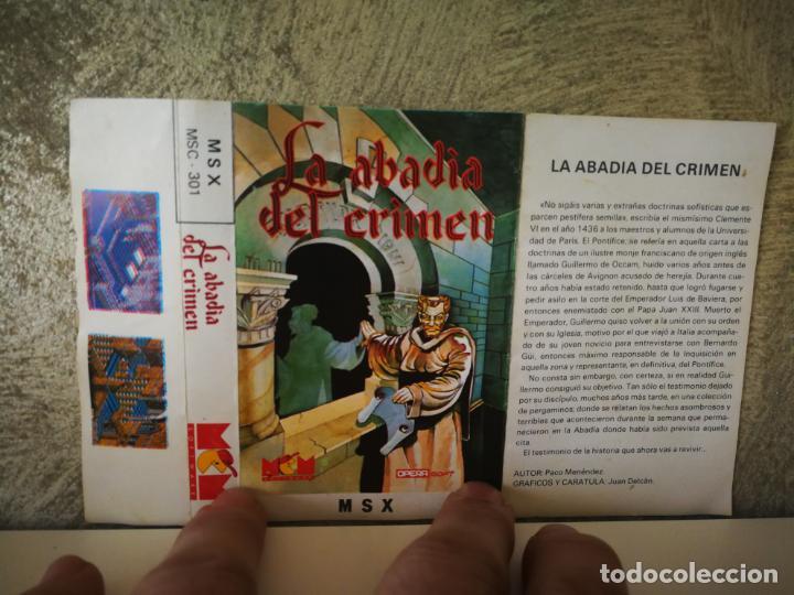 Videojuegos y Consolas: LA ABADÍA DEL CRIMEN MSX - Foto 3 - 196494373