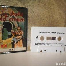 Videojuegos y Consolas: LA ABADÍA DEL CRIMEN MSX. Lote 196494373
