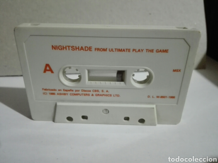 Videojuegos y Consolas: -NIGHTSADE -JUEGO EN CASSETTE PARA MSX SIN CARÁTULA - Foto 2 - 196521731
