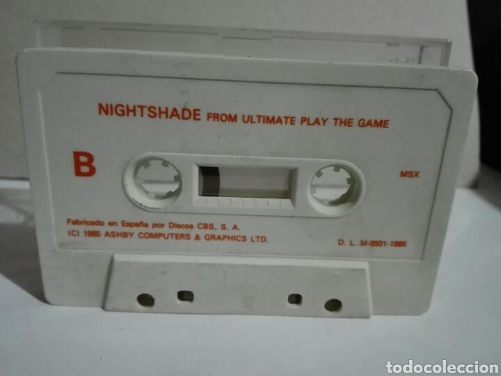 Videojuegos y Consolas: -NIGHTSADE -JUEGO EN CASSETTE PARA MSX SIN CARÁTULA - Foto 3 - 196521731