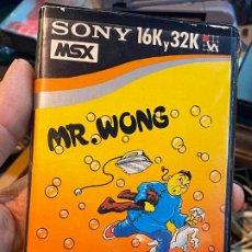 Videojuegos y Consolas: JUEGO ORDENADOR MR. WONG - MSX - CASETE - HIT BIT SONY. Lote 196554652