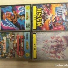 Videojuegos y Consolas: LOTE MSX OUT RUN, MASK, SURVIVOR, WINTER GAMES. Lote 197039945