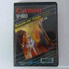 Videojuegos y Consolas: RESCATE DEL FUEGO / ESTUCHE / MSX / RETRO VINTAGE / CASSETTE - CINTA. Lote 197760167