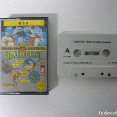 Videojuegos y Consolas: GAUNTLET / JEWEL CASE / MSX / RETRO VINTAGE / CASSETTE - CINTA. Lote 197760768